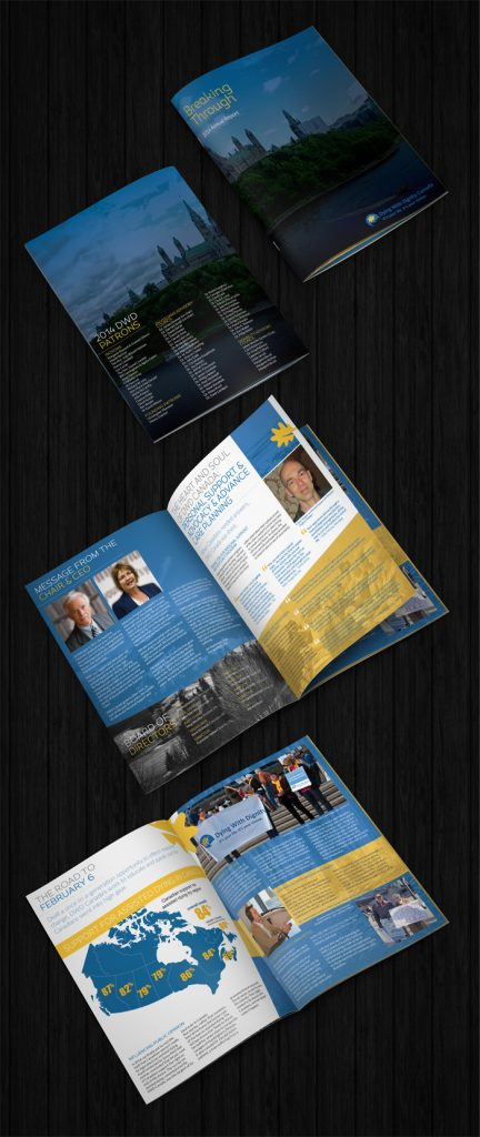 DWD Annual Report Cover and Pages
