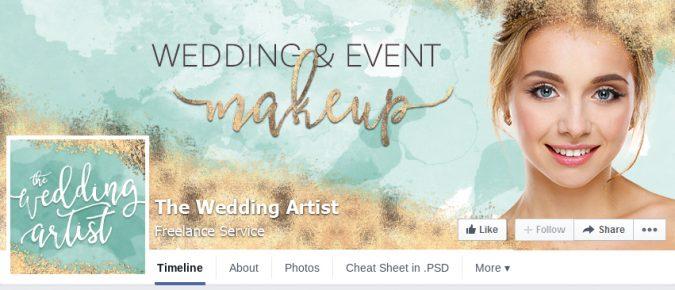 The Wedding Artist Facebook page